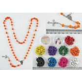 120 Units of Sandalwood Cross Rosary Necklace - Necklace