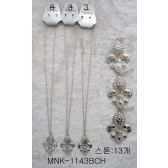 120 Units of Fleur de Lis Necklace Earring Set - Necklace Sets