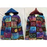 6 Units of Patchwork Cotton Fleece Lined Nepal Handmade Jackets - Woman's Winter Jackets
