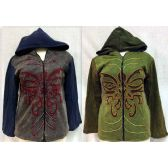 6 Units of Butterfly Design Nepal Handmade Jackets Assorted - Woman's Winter Jackets