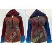 6 Units of Nepal Handmade Jackets Fleece Lined Ripped Sleeves - Woman's Winter Jackets