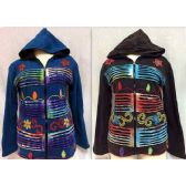 6 Units of Nepal Jackets Fleece Lined Patchwork with Star Design - Woman's Winter Jackets