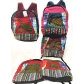 10 Units of Large Turtle Tie Dye Cotton Handmade Backpacks