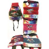 10 Units of Tie Dye Nepal Cotton Backpacks Bird on Branch