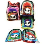 10 Units of Tie Dye Nepal Cotton Backpack with Skull Design