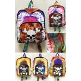 10 Units of Jolly Roger Skeleton Head with Bones Tie Dye Backpacks