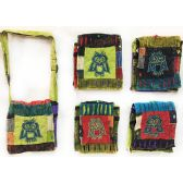 15 Units of Nepal Small Sling Bags with Single Owl - Shoulder Bag/ Side Bag