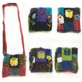 15 Units of Nepal Small Sling Bags Butterfly with Two Flowers - Shoulder Bag/ Side Bag