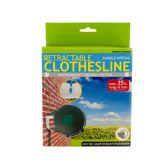 12 Units of Indoor Outdoor Retractable Clothesline - Clothes Pins