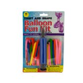 24 Units of Twist & Shape Balloon Fun Kit with Air Pump - Balloons & Balloon Holder