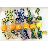 72 Units of Dog Puppy Pet Braided Bone Rope with Ball Chew Knot Toy - Pet Toys