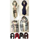 24 Units of Plaid Scarves Assorted Colors of plaid scarves - Winter Scarves