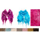 36 Units of Siver Lined Ruffle Scarves - Womens Fashion Scarves