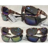 36 Units of sports Biker Sunglasses with Camo Print Assorted Colors - Sport Sunglasses