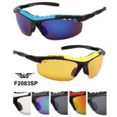 24 Units of Sports Sunglasses with Foam Padding Assorted Color - Sport Sunglasses