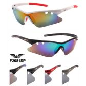 48 Units of Men Motorcycle Sports Sunglasses with Vent Holes - Sport Sunglasses