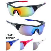 48 Units of Men Motorcycle Sports Sunglasses Wrap Style - Sport Sunglasses