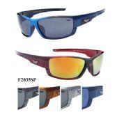 36 Units of Man Sports Sunglasses Checker Prints on Sides - Sport Sunglasses