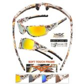 24 Units of Men White Camo Sports Sunglasses Soft Coating assorted white camo colors - Sport Sunglasses