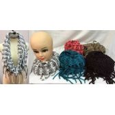 24 Units of multi-color knitted infinity scarves This scarves comes assorted colors, one size fit most, stretchy material - Winter Scarves