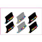 60 Units of Ladies 6 Pair packColor Heel/Toe Crew Socks