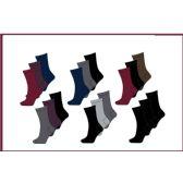 60 Units of Ladies 3 Pair Pack Solid Dark Crew Socks Sizes 9-11