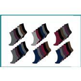 60 Units of Ladies 6 Pair Pack Solid Darks Crew Socks Size 9-11