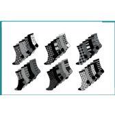 60 Units of Ladies 6 Pair Pack Prints Crew Socks Sizes 9-11