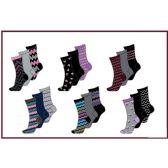 60 Units of Ladies 3 Pair Pack Chevron Crew Socks Size 9-11