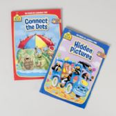 24 Units of Activity Books School Zone #4 96pg Hidden Pics/connect Dots Pdq 2 Assorted