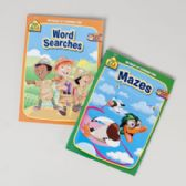 96 Units of Activity Books School Zone #5 96pg Mazes/word Search 2 Assorted Pdq
