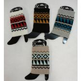 12 Units of Knitted Boot Cuffs - Womens Leg Warmers
