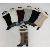 12 Units of Knitted Boot Cuffs [Cable Knit/Antique Lace] - Womens Leg Warmers