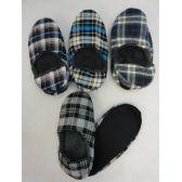 12 Units of Men's Plaid Bootie - Men's Slippers