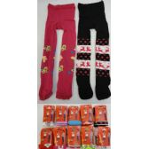 72 Units of Girl's Printed Leotard Assorted colors and prints - Girls Leggings