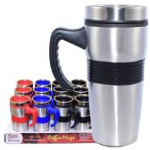 24 Units of Coffee Mug Insulated with handle & Grip - Coffee Mugs