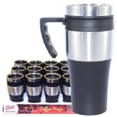 24 Units of Coffee Mug Insulated with Handle - Coffee Mugs