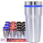24 Units of Coffee Mug Insulated Color Top - Coffee Mugs
