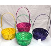 96 Units of Bamboo Basket - EASTER