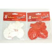 288 Units of 8pc Valentine's Day Printed Balloon - Valentines