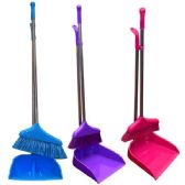 24 Units of Broom with long Dustpan Handle - Dust Pans