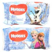 50 Units of Huggies Baby Wipe 56CT Frozen - Baby Beauty& Care Items