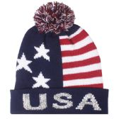 48 Units of MENS USA WINTER HAT WITH POM POM