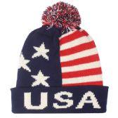 36 Units of MEN USA WINTER HAT WITH POM POM