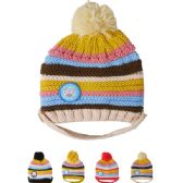 72 Units of KID WINTER HAT STRIPED ASSORTED COLOR - Junior / Kids Winter Hats