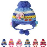 72 Units of KID KNITTED WINTER HAT ASSORTED COLOR - Junior / Kids Winter Hats