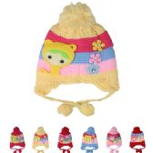 72 Units of KIDS STRIPED WINTER HAT WITH​ POM POM - Junior / Kids Winter Hats