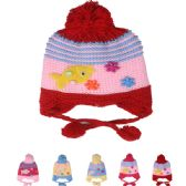 72 Units of KIDS STRIPED KNITTED WINTER HAT WITH FISH - Junior / Kids Winter Hats