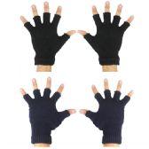 144 Units of Winter Gloves Fingerless