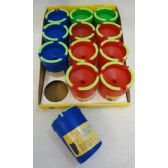 12 Units of Large Butt Bucket with Glow Edges [Bright Colors]